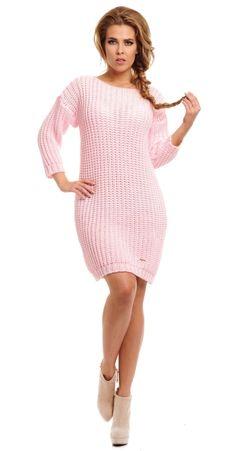 Rochie moderna, tricotata, de culoare roz - Rochie moderna, tricotata, de culoare roz. Are maneci lungi si decolteu la baza gatului, tip barcuta. Este forte lejer si potrivit zilelor racoroase. Colectia Rochii de toamna iarna de la  www.rochii-ieftine.net Casual, Sweaters, Dresses, Fashion, Tricot, Vestidos, Moda, Fashion Styles, Sweater