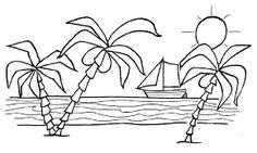 Resultado de imagen para paisajes infantiles para dibujar faciles
