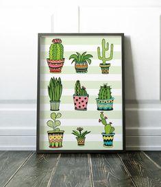 Cactus Print, Wall Art Prints, Minimalist Prints, Nordic Print, Cactus Art, Scandi Print, Minimalist Cactus Print, Modern Art, Wall Art, Art