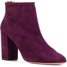 Aquazzura 'Downtown' ankle boots (1.637.970 COP) ❤ liked on Polyvore featuring shoes, boots, ankle booties, ankle boots, block heel booties, leather ankle booties, block heel ankle boots and aquazzura booties
