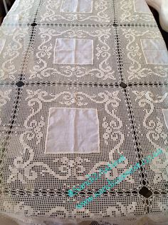 #CrochetLinenTablecloth Crochet, Linen, Tablecloth, Lace