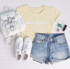 summer outfits for paris 50 best outfits Cute Teen Outfits, Teenage Girl Outfits, Cute Comfy Outfits, Girls Fashion Clothes, Teen Fashion Outfits, Cute Summer Outfits, Swag Outfits, Short Outfits, Outfits For Teens