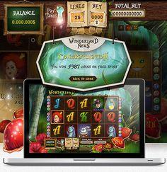 Wonderland Game GUI design by Ergomedia