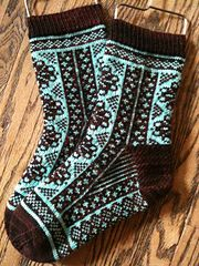 This pattern has been designed for the September/October 2012 knitalong of the Hazel Knits group. Fair Isle Knitting, Knitting Socks, Hand Knitting, Knitting Patterns, Knit Socks, Boot Toppers, Yarn Crafts, Ravelry, Knitting Projects