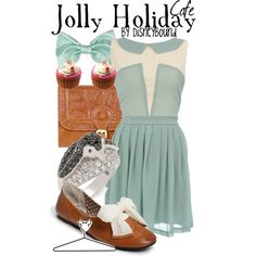 Jolly Holiday Cafe, created by lalakay on Polyvore #disney