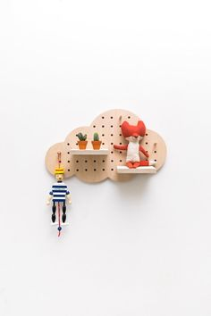 8 Minimalist Bedroom Decor Ideas from Etsy - andthebee Tool Pegboard, Painted Pegboard, Bedroom Themes, Bedroom Decor, Kids Bedroom, Pot A Crayon, Jute Crafts, Cloud Shapes, Toddler Rooms