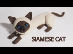 Siamese Cat air dry clay / polymer clay tutorial