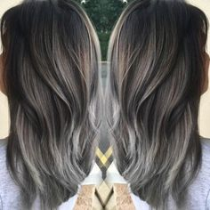 Cassandra DeRosa, (@cassderosa) of Salon 202 in Howell, NJ, shares the details for this gorgeous silver metallic gray that is still going strong this season! We love!!! STEP 1: Balayage the hair using Joico bleach with 30 volume. Process for 30 minutes. (2 separate times 2 months apart, her hair was previously Pravana red).