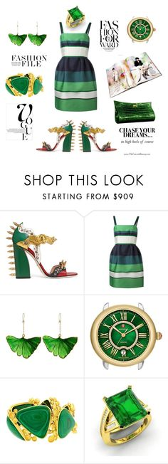 """Fashion file"" by zabead ❤ liked on Polyvore featuring Gucci, Lanvin, Aurélie Bidermann, Michele, Diamondere and Lautrec"