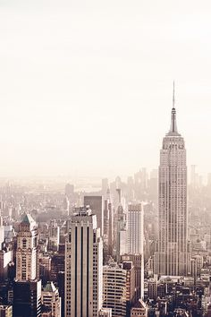 Empire State Building and New York City Skyline - Afternoon #NewYorkCity #NYC #EmpireState