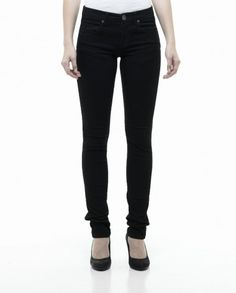 DrDenim snap slim black jean