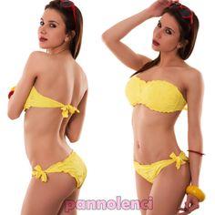 Bikini donna costume da bagno pizzo sangallo fascia fiori due pezzi nuovo SE1331 | eBay