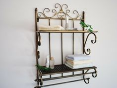 Cast Iron Shelf For Bathroom Details About Hand French Style Towel Rails