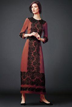 Dolce & Gabbana modest long sleeve maxi dress | Mode-sty