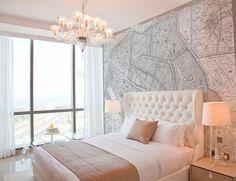 Дизайн стены около или в изголовье кровати