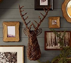 Cozy paint. Natural wood frames. Lodge-feel.