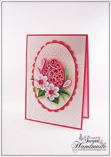 Quilling-put quilled flower on medallion that's inside a scalloped ring? Quilling Work, Quilling Paper Craft, Quilling Flowers, Easter Art, Easter Crafts, Paper Quilling Designs, Quilling Ideas, Cool Cards, Cards Diy