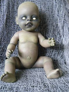 Creepy zombie baby from thrift store doll