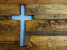 """Each handmade wooded cross piece is approximately 30x18 and made to order. These beautiful wooden cross pieces are made using salvaged oak, cedar pine and reclaimed wood . Imperfections add to the character and charm of the pieces. We hand select and arrange the pieces to achieve just the right mix of color, texture and character. The thickness is generally ¾"""" but widths vary. Each piece is finished with Danish Oil to bring out the character in the wood. Hangers are added to the back to…"""