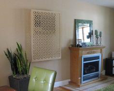 Acurio Latticeworks Moors Ellipses 32 in. x 4 ft. White Vinyl Decorative Screen Panel - - The Home Depot Decor, Interior, Decorative Screen Panels, Affordable Interiors, Home Decor, Apartment Decor, Lattice Design, Vinyl Decor, Wall Air Conditioner