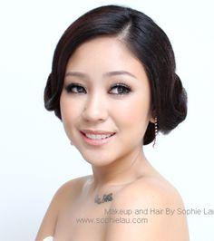 Asian Bride Makeup and hairstyle