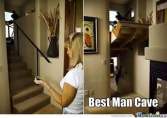 Best man cave entrance