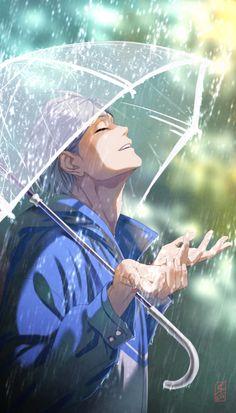 "littleskrib: "" Not even rain in June would stop him from smi M Anime, Haikyuu Anime, Cute Anime Boy, Anime Boys, Anime Boy Smile, Cool Anime Guys, Anime Art Girl, Anime Boy Zeichnung, 3d Fantasy"