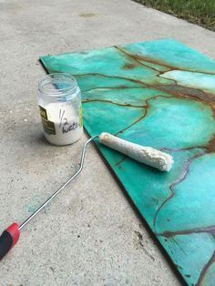 It's hard to believe that this masterpiece started as a plank of wood! http://www.hometalk.com/19073940/turquoise-gem-patina-wall-art-how-to?se=fol_new-20160725-1&date=20160725&slg=a05337093feb48af59e4aadaadb9bf7c-1110481