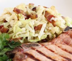 Colcannon served with Smoked Pork Chops