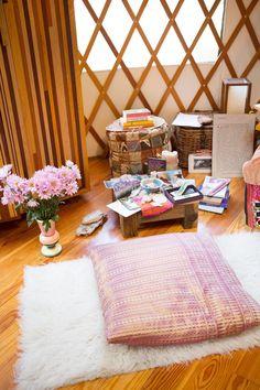 Erin and Nathan's Boho Backyard Dream Office in a Yurt