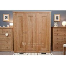 Torino Oak Furniture Triple Wardrobe