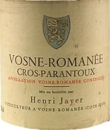 The Nectar of Vosne - Romanee. If Vosne - Romanee was controlled by the 5 families, then Henri Jayer would have been Don Corleone!