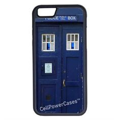CellPowerCasesTM Doctor Who Tardis iPhone 6 (4.7) Protective V1 Black... ($13) ❤ liked on Polyvore featuring accessories, tech accessories and black