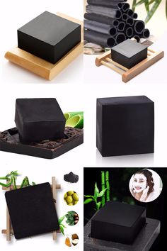[Visit to Buy] 1Pcs Bamboo Charcoal Handmade Soap Blackhead Remover Acne Treatment Oil Control Treatment Skin Care Natural Skin Whitening Soap #Advertisement
