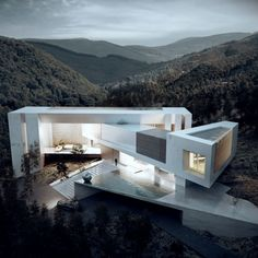35 Stunning Modern Container House Design Ideas for Comfortable Life Every Day - Architecture Contemporary Architecture, Amazing Architecture, Art And Architecture, Modern Contemporary, Computer Architecture, Contemporary Building, Contemporary Cottage, Contemporary Apartment, Contemporary Wallpaper