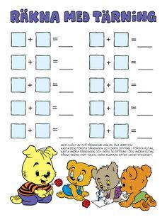 Siffror – Bamse.se Kindergarten Math, Teaching Math, Preschool Activities, Toddler Arts And Crafts, Baby Barn, Math School, Math For Kids, Motor Activities, Math Games