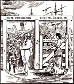 Type of Source: Political Cartoon Date of Origin:1923 This is a political cartoon showing the injustice of how the Chinese people were treated in Canada in the 1920s in regards to immigration. July 1,1923, an act was passed stating nobody from China could enter Canada. This was very hard for the people who were already in Canada as they were separated from their families who had not been able to immigrate. The day the act was passed was called 'Humiliation Day' by the Chinese people.