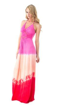 boutique flirt - Sky Sorrelle Tie Dye Maxi Dress Pink, $166.00 (http://www.boutiqueflirt.com/sky-sorrelle-tie-dye-maxi-dress-pink/)