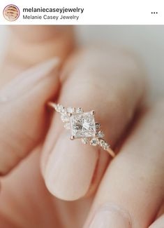 Moissanite engagement ring Vintage engagement ring White gold Antique Diamond wedding art deco bridal set Flower Anniversary gift for women - Fine Jewelry Ideas Dream Engagement Rings, Vintage Engagement Rings, Vintage Rings, Unique Vintage, Vintage Art, Vintage Diamond, Halo Engagement, Vintage Jewelry, Cute Rings