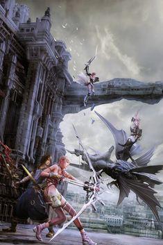 Tags: Nomura Tetsuya, Final Fantasy XIII, 3D, Serah Farron, Lightning Farron, Noel Kreiss, Caius Ballad