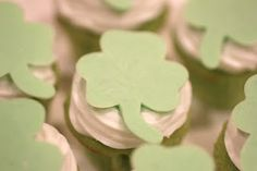 Candy Shamrock Cupcake Toppers. VERY simple DIY! You can make any shape for any occasion!