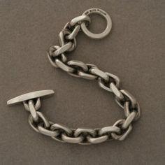 Hans Hansen Sterling Silver Chain Bracelet , Handmade Sterling Silver - Gallery 925