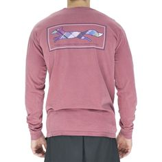Longshanks Long Sleeve Tee Shirt in Brick by Country Club Prep