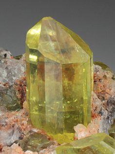 Gemmy Fluroapatite from Cerro de Mercado mine, Durango, Mexico