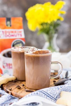ThisHot Chocolate Coffee is an indulgent blend of thick and creamy hot chocolate and bold hot dark roast coffee. The perfect brunch or dessert beverage for the holidays!