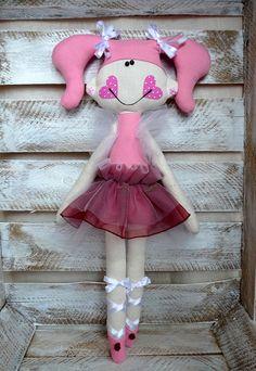 Artesanal boneca bailarina boneca de pano boneca de tecido por GabrielleJustine
