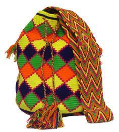 www.mochilaswayuubags.com whatsapp +57 320 345 9226 #wayuu #crochet #handmade #crochet #boho #bohostyle #bohochic #hippie #cartagena Tribal Bags, Boho Fashion, Boho Chic, Winter Hats, Knitting, Crochet, Handmade, Design, Cartagena
