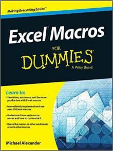 Excel Macros For Dummies (2015) Pdf Download e-Book