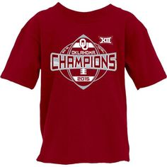competitive price 6fdf0 2f814 Oklahoma Sooners YOUTH 2015 Football Big 12 Conference Champions T-Shirt