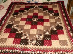 ... QUILT-LOOK on Pinterest Crochet quilt, Crochet quilt pattern and